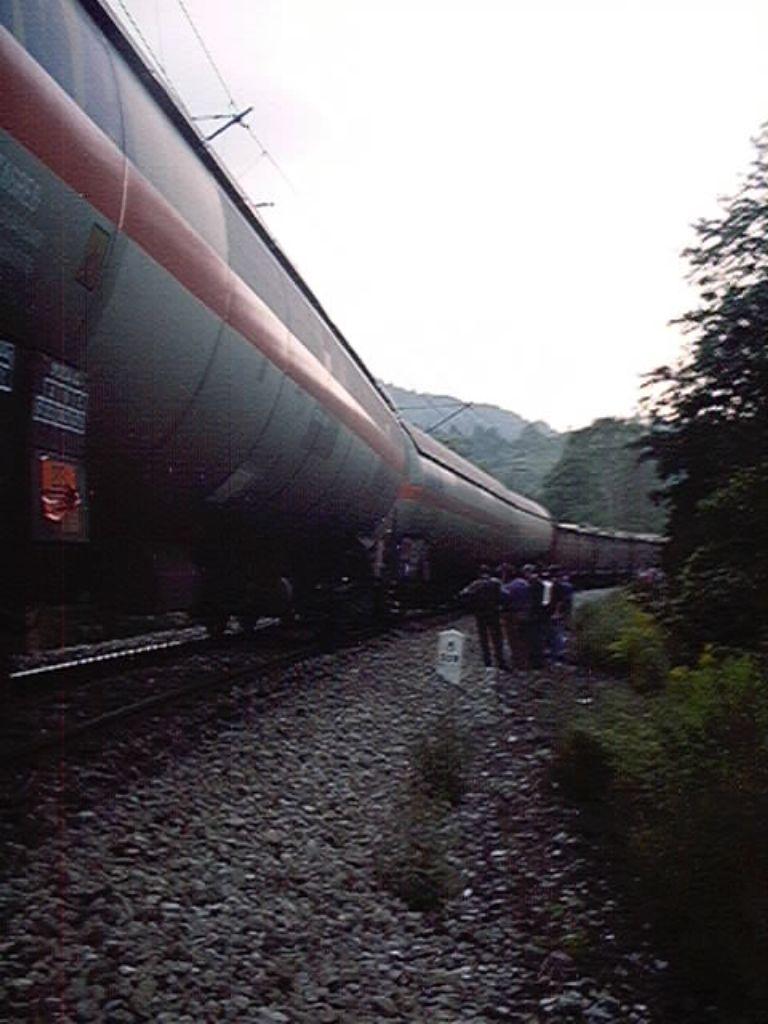 Rujan 2002. – Izlijetanje teretnog vlaka sa tekućim plinom