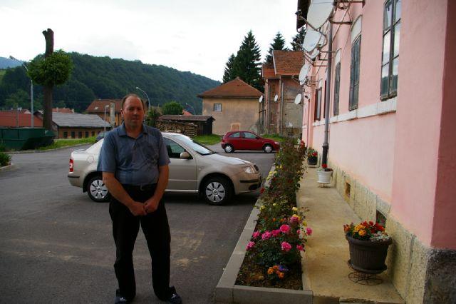 Ilija Drakulić predstavnik stanara ispred Velike kuće