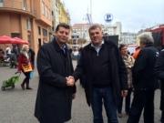 Jasen Mesić saborski zastupnik HDZ-a i gradonačelnik Vrbovskog Dražen Mufić
