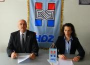 Janeš i Burić na tiskovnoj konferenciji HDZ-a ravna Gora