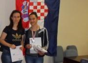Nagrađena Martina Pajić (lijevo) s mentoricom Svjetlanom Glad