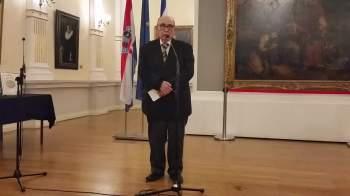 Josip dr Ferenčak se obraća skupu